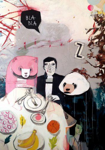 A Mad Tea-Party, 120x170 cm